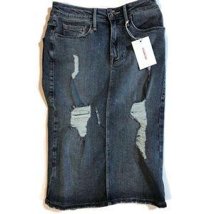 Good American high waisted pencil denim skirt 0 25
